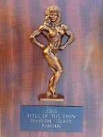 Female Physique plaque item 166